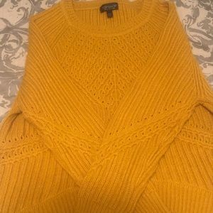 TOPSHOP never worn mustard color sweater